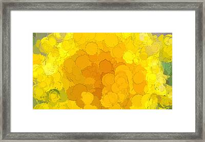 In Color Abstract 14 Framed Print by Cathy Anderson