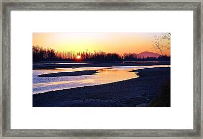 The Fraser River Framed Print