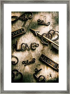 In Contrast Of Love And Light Framed Print