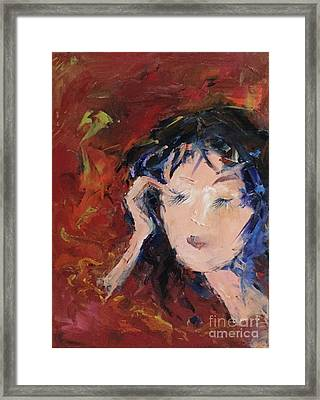 In Curly Thoughts Framed Print
