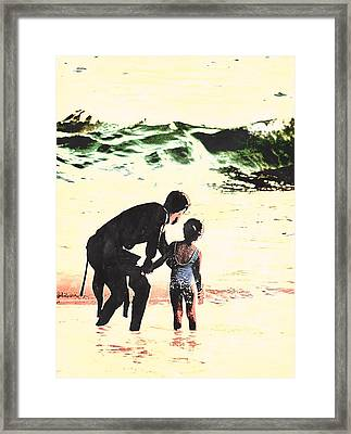 In Daddy's Arms Framed Print
