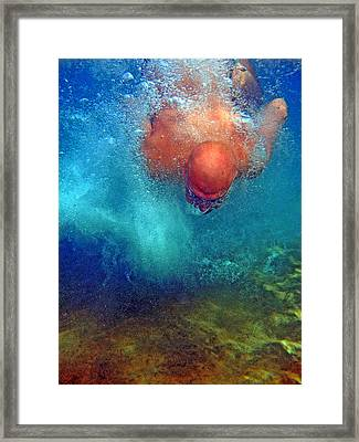 In Deep Water. Framed Print by Andy Za