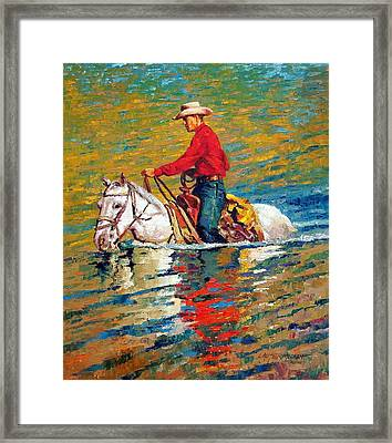 In Deep Water Framed Print by John Lautermilch