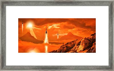Framed Print featuring the photograph In Defense Of The Orange Planet by Anthony Citro