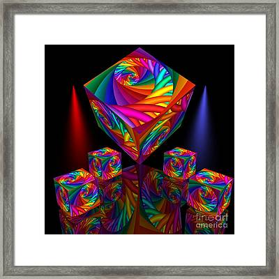 In Different Colors Thrown -8- Framed Print