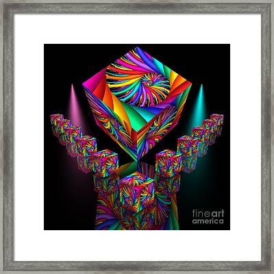In Different Colours Thrown -6- Framed Print by Issabild -