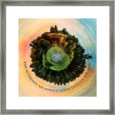 In Dreams A World Entirely Our Own Orb Framed Print