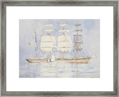 In Falmouth Bay Framed Print by Henry Scott Tuke