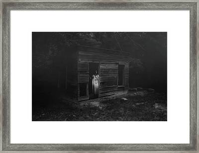 In Fear She Waits Framed Print by Tom Mc Nemar