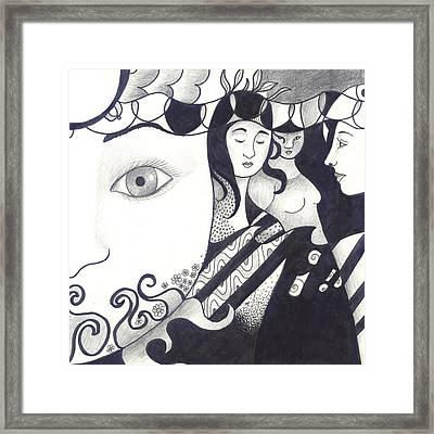 In Feminine Form Framed Print