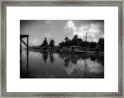 In Florida, A Boat Framed Print