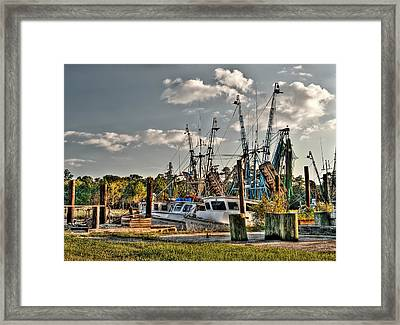 In For The Day Framed Print