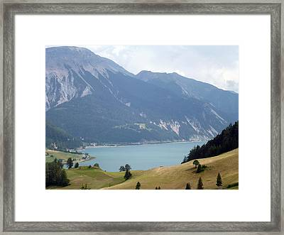 In Front Of The Lake Framed Print