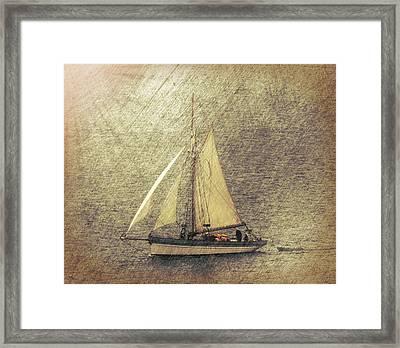 In Full Sail Framed Print