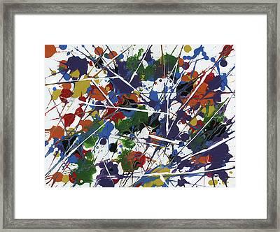 In Glittering Rainbow Shards Framed Print