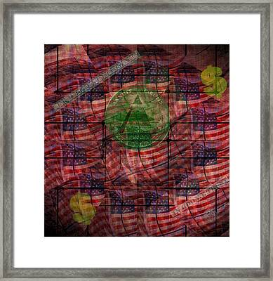 In God We Trust All Others Pay Cash Framed Print by Bill Cannon