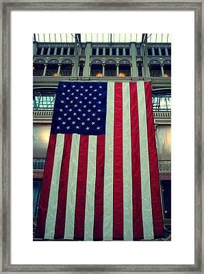 In God We Trust American Flag Milwaukee Wi Framed Print