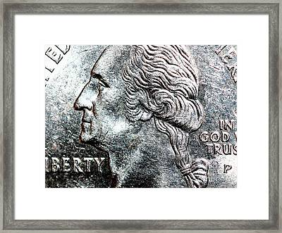 In God We Trust . Quarter . R4441 Framed Print by Wingsdomain Art and Photography