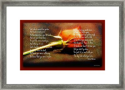 In God's Garden Framed Print