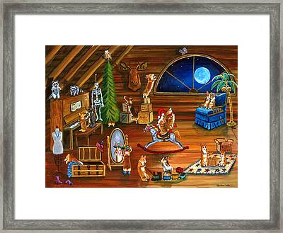 In Granny's Attic Pembroke Welsh Corgi Framed Print by Lyn Cook