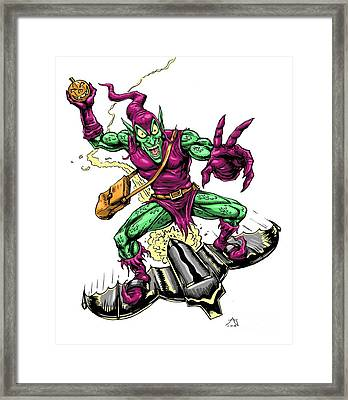 In Green Pursuit Framed Print