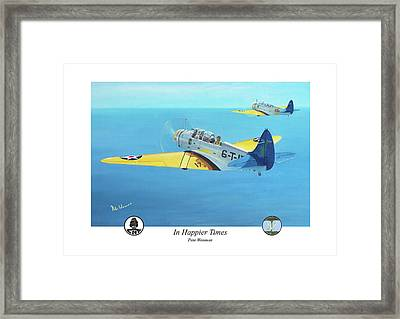 In Happier Times Framed Print by Pete Wenman