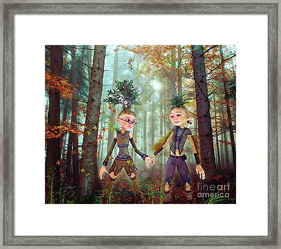 Framed Print featuring the digital art In Harmony With Nature by Jutta Maria Pusl