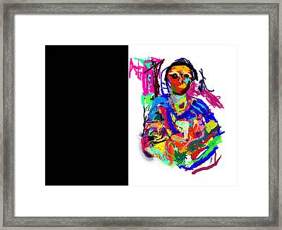 In Her Arms Framed Print by James Thomas