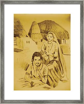 In Her Company Framed Print by Navjinder Kainthrai