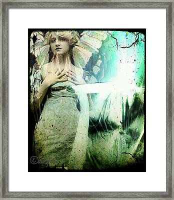 Framed Print featuring the digital art In Her Dreams She Could Fly Unfettered by Delight Worthyn