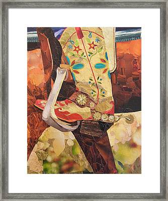 In Her Favorite Boots She Can Take On The World Framed Print
