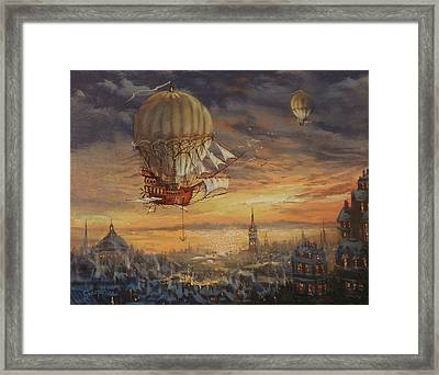 In Her Majesty's Service Steampunk Series Framed Print