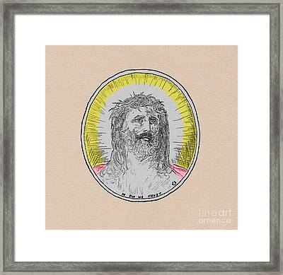 In Him We Trust Colorized Framed Print