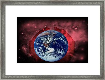 In His Hands Framed Print by Evelyn Patrick