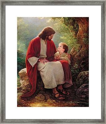 In His Light Framed Print by Greg Olsen