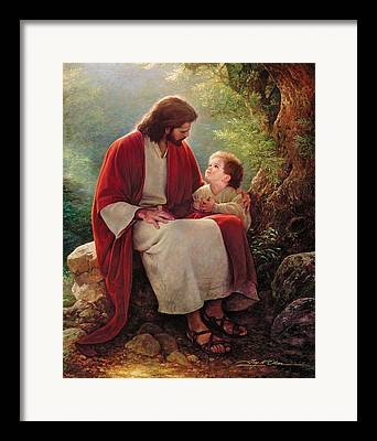 Light Of Christ Framed Prints
