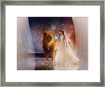 In His Presence  With Title Framed Print