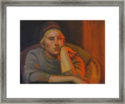 In His Twenties Framed Print by Pamela Preciado