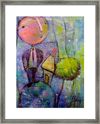 In His World Framed Print