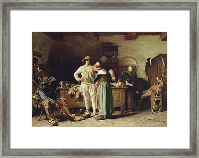 In Hoc Signo Vinces Framed Print by Thomas Hovenden