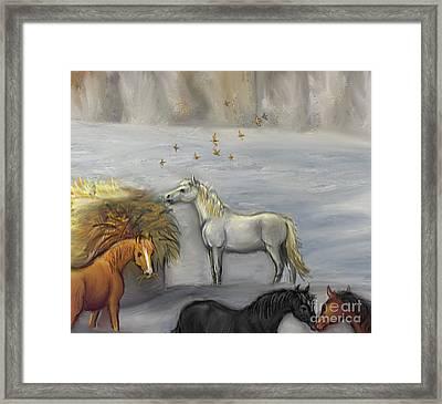 In Honor Of Greyboy Framed Print by Dawn Senior-Trask