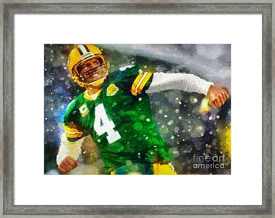 In Honor Of Number 4 The Living Legend Framed Print