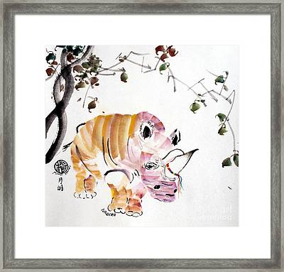 In Honour Of Nabire's Life Framed Print by Ming Yeung
