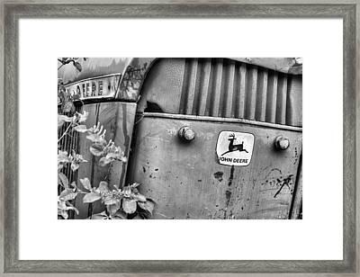 In John Deere Greene Bw Framed Print by JC Findley