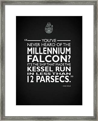 In Less Than 12 Parsecs Framed Print by Mark Rogan