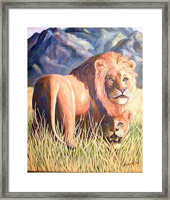 In Lions Time Framed Print