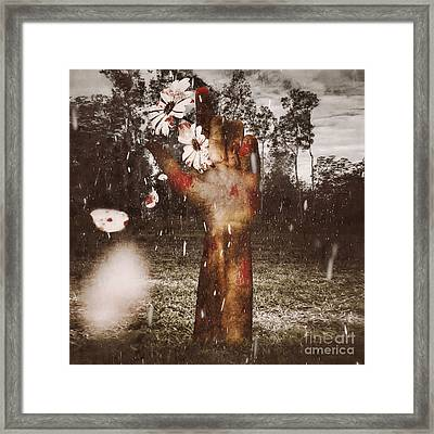 In Love And Death Framed Print