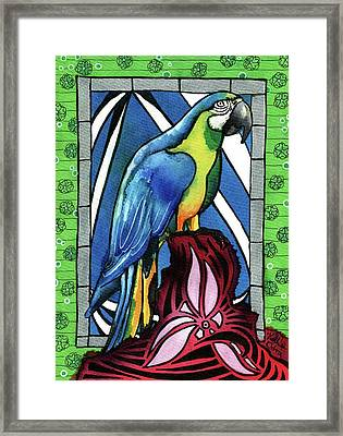In Love With A Macaw Framed Print