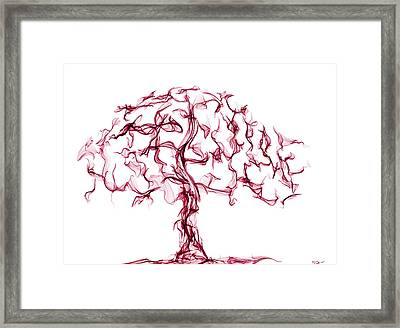 In Love With Cherry Blossoms Framed Print by Abstract Angel Artist Stephen K