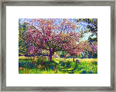 In Love With Spring, Blossom Trees Framed Print by Jane Small